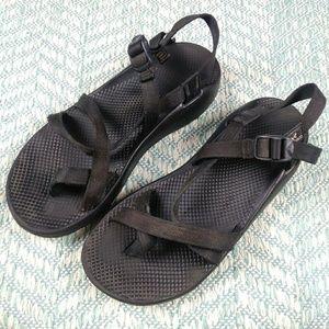 Chaco Black Toe Strap Sandals. Size 13